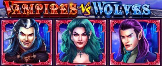 Vampires vs Wolves vampire freespin1